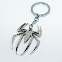 Chainz Spiderman Metal Spider Shaped Keychain (Silver)