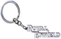 Ezone Desied Royal Enfield Style Metal Key Chain (Silver)