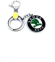Ezone Powerful Metal Skoda Car Locking Key Chain (Green)