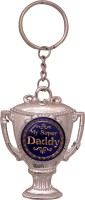 Oyedeal KYCN1009 My Super Daddy Trophy Metal Key Chain (Multicolor)