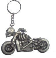 Efficia Skull Bike Key Chain (Multicolor)