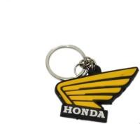 Ezone Rubber Honda Bent Gate Carabiner (Yellow, Black)