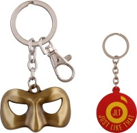 JLT  Green Lantern Bronz Mask Premium Locking Key Chain (Multicolor)
