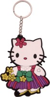 Oyedeal KYCN1122 Kitty White Rubber Key Chain (Multicolor)