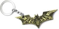 Optimus Traders Batman Justice League Bat Texture Logo Gold Metal Keychain Key Chain (Gold)