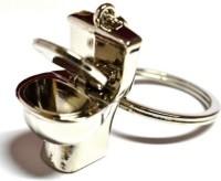 Turban Toys Potty Toilet Seat Metal Keychain Key Chain (Silver)