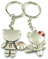 CTW Players Couple Metalic Couple Valentine Gift Pack Key Chain (Silver)