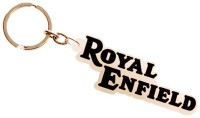 TAG3 Royal Enfield Silicon Font Key Chain (Black)