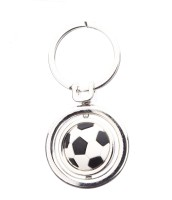 Confident Metal MVP133 Ring FootBall Key Chain (Silver)