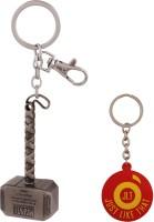 JLT Thor Hammer Silver Locking Key Chain (Multicolor)