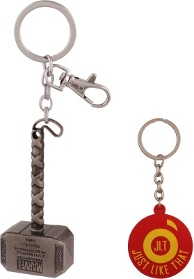 JLT Thor Hammer Silver Locking Key Chain (Multicolor)