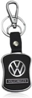 Zeroza Volkswagen Leather Metal VN02 Locking Key Chain (Black)
