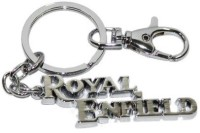 Ezone Imported Royal Enfield Chrome Plated Key Chain (Silver)
