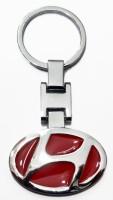 Aditya Traders CLASSY FULL METAL 'HYUNDAI' CAR KEYCHAIN Key Chain (red)