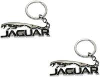 Chainz Pack Of 2 Metal Jaguar Embossed (Silver, Black)