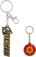 JLT The Avengers Gold Metal Premium Locking Key Chain (Multicolor)