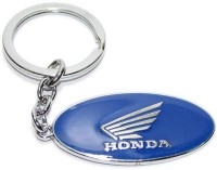 Aura Honda Bike Imported Full Metal Key Chain (Blue, Silver)