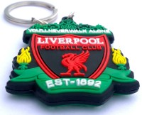 AA Retail Liverpool FC Crest Logo Double Side Silicone Keychain (Red, White)