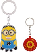 JLT Two Eyed Minion Regular Metal Locking Key Chain (Multicolor)