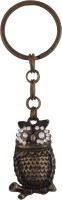 JLT Full Metal Dimond Eyed Owl Key Chain (Multicolor)
