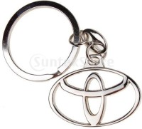 99dailydeals R45 Toyota Chrome Plated Steel Imported Key Chain Key Ring Car Logo For Etios Liva Corolla Innova Camry Fortuner Cars (Silver)