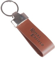 Alexus Royal Enfield Leather Kc Key Chain (Silver)