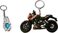Fcs Bike Ktm Duke Rubber + Omg Key Chian (Multicolor)