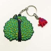 Chumbak Peacock Key Chain Multicolor