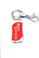 Ezone Important Royal Enfield Red Metal Locking Key Chain (Silver)