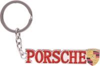 Oyedeal Porsche Metallic Bent Gate Key Chain (Red)