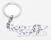 24X7SHOP Royal Enfield Full Metal Imported Key Chain (Silver)
