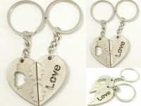 Singh Xpress Combo Of 3 I LoYe You Magnetic Opposing Hearts With Arrow ( For Him And Her) - Key Chains - Car And Bike - Fancy - Accessories Stainless Metal Alloy - - Valentines Special With Matte Finish Carabiner (silver)