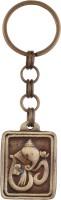 JLT Full Metal Blessing Ganesha In Square Key Chain (Gold)