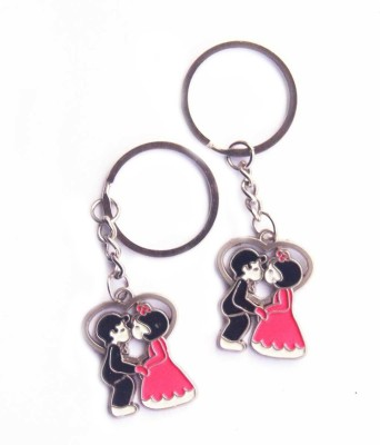 Anishop Valentine Kissing Couple Keychain