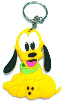 AA Retail Pluto Double Side Silicone Keychain (Yellow, Green)
