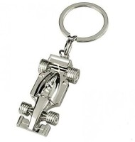CTW Full Metal Racing Car Keychain (Silver)