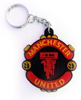 MoveWagaon Football Manchester United Key Chain Plus Keyholder Locking (Red)