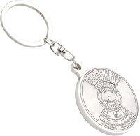 Brighton Compass Date Perpetual With Calendar Up-To 50 Years Key Chain (Silver)