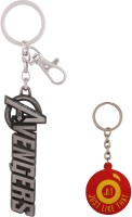 JLT The Avengers Silver Metal Premium Locking Key Chain (Multicolor)