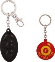 JLT Batman Metal Full Black Premium Locking Key Chain (Multicolor)