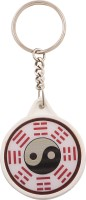 JLT Ball With Dotted Lines Key Chain (Silver)