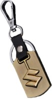 Tag3 Suzuki Alloy Metal Imported Ring Chrome Car Logo Key Chain (Gold)