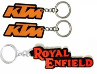 ABZR ABZR Combo Of KTM And Royal Enfield Rubber Key Chain Key Chain (Multi Color)