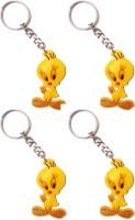 Vibrating Phantom Cute Tweety Cartoon Set Of 4pcs Key Chain (Yellow)