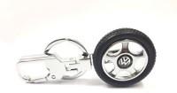 City Choice Volkswagen Wheel Locking Key Chain (Black & Chrome)