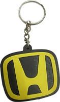 DCS Honda Logo Keychain Locking Key Chain (Yellow &Black)