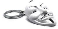 AA Retail Vendetta Mask White Premium Metal Keychain (White, Black)