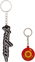 JLT Pulsar Silicon Black And White Bike Logo Key Chain (Black, White)