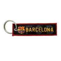 Techpro Doublesided Cloth Barcelona Key Chain (Multi Color)