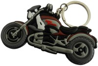 Techpro Royal Enfield Rubber Keychain Locking Key Chain (Multi Color)